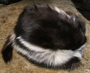 Real Fur Skunk Cap